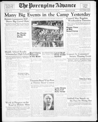 Porcupine Advance, 17 Aug 1936