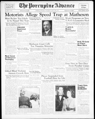 Porcupine Advance, 3 Sep 1936