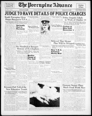 Porcupine Advance, 1 Oct 1936