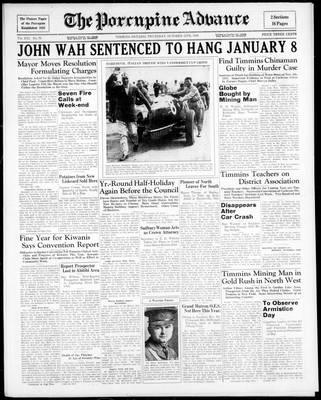 Porcupine Advance, 15 Oct 1936