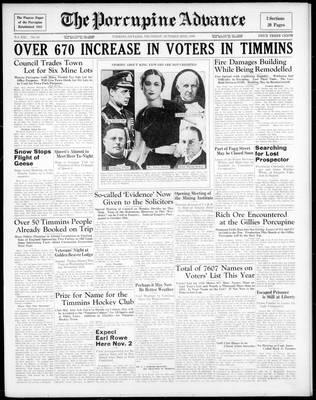 Porcupine Advance, 22 Oct 1936