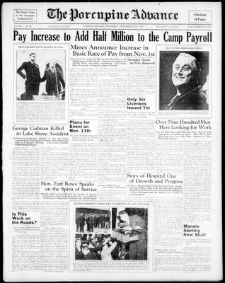 Porcupine Advance, 5 Nov 1936