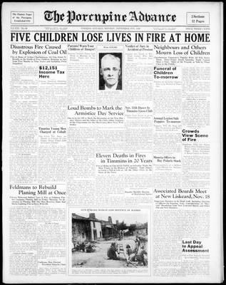 Porcupine Advance, 9 Nov 1936
