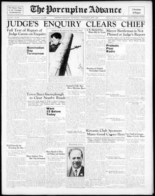 Porcupine Advance, 26 Nov 1936