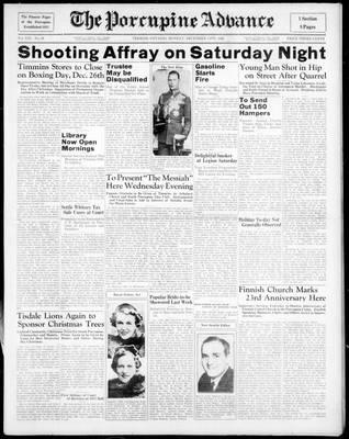 Porcupine Advance, 14 Dec 1936