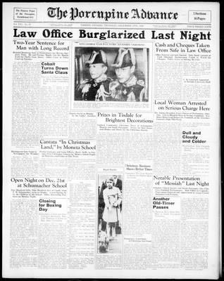 Porcupine Advance, 17 Dec 1936