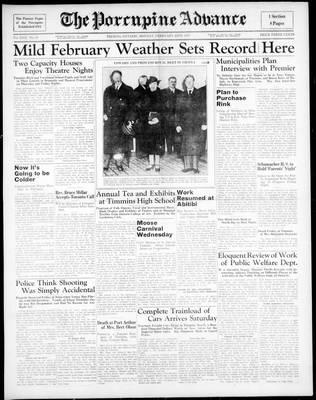 Porcupine Advance, 22 Feb 1937