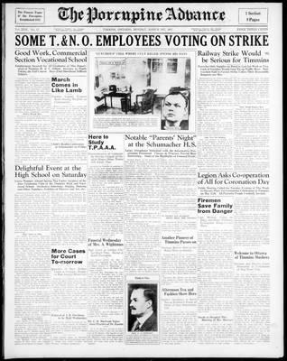 Porcupine Advance, 1 Mar 1937