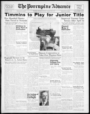 Porcupine Advance, 8 Mar 1937