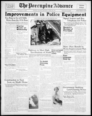 Porcupine Advance, 1 Apr 1937