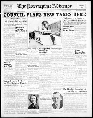 Porcupine Advance, 17 May 1937
