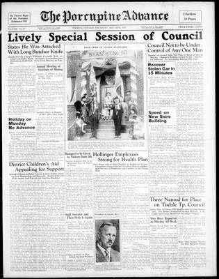 Porcupine Advance, 20 May 1937