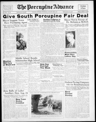 Porcupine Advance, 12 Aug 1937