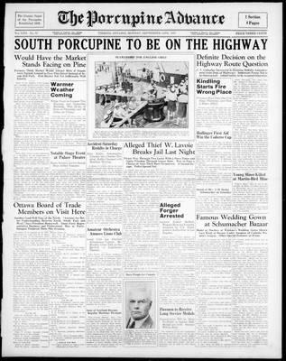 Porcupine Advance, 13 Sep 1937