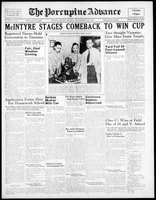 Porcupine Advance, 27 Sep 1937