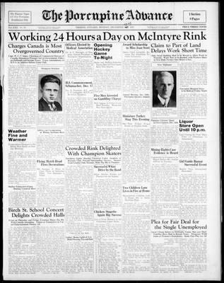 Porcupine Advance, 13 Dec 1937