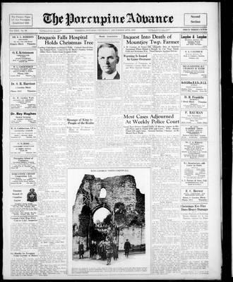 Porcupine Advance, 30 Dec 1937