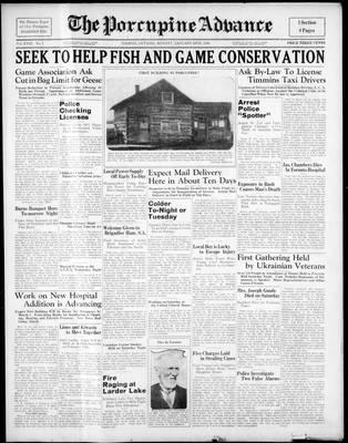 Porcupine Advance, 24 Jan 1938