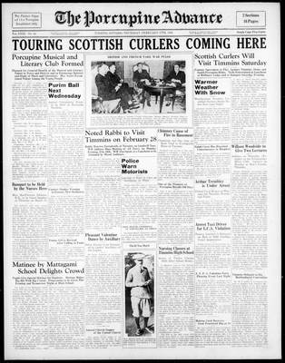 Porcupine Advance, 17 Feb 1938