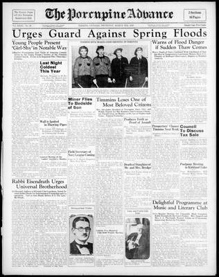 Porcupine Advance, 3 Mar 1938