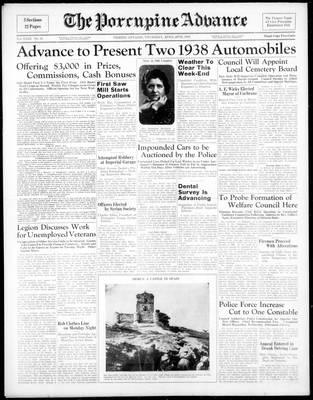 Porcupine Advance, 28 Apr 1938