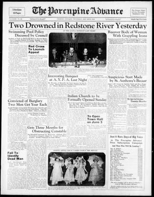 Porcupine Advance, 26 May 1938