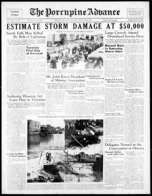 Porcupine Advance, 20 Jun 1938