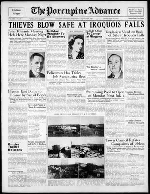 Porcupine Advance, 30 Jun 1938