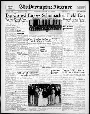 Porcupine Advance, 4 Jul 1938