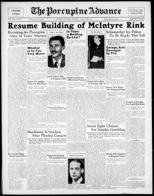 Porcupine Advance, 18 Jul 1938