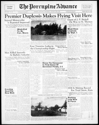 Porcupine Advance, 11 Aug 1938
