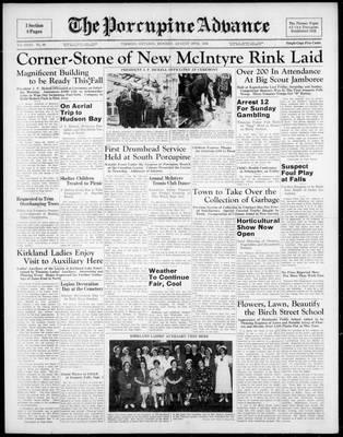 Porcupine Advance, 29 Aug 1938