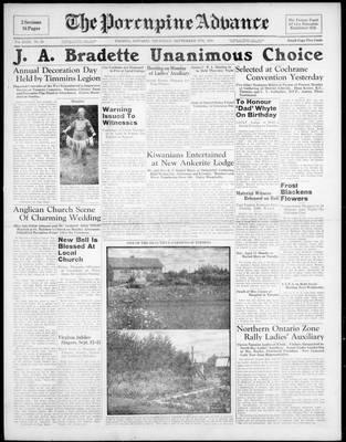 Porcupine Advance, 8 Sep 1938