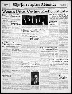 Porcupine Advance, 29 Sep 1938