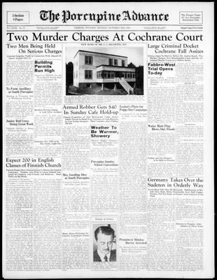Porcupine Advance, 3 Oct 1938
