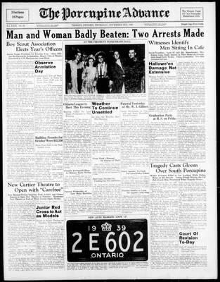 Porcupine Advance, 3 Nov 1938