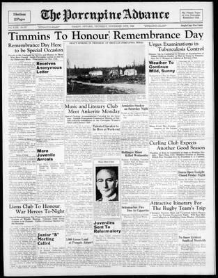 Porcupine Advance, 10 Nov 1938