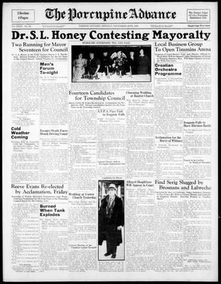 Porcupine Advance, 28 Nov 1938