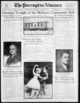 McINTYRE COMMUNITY HALL (BUILDING) - Opening; Photographs of J.P. Bickell, R.J. Ennis, and 2 skaters
