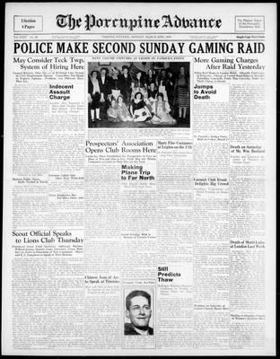 Porcupine Advance, 20 Mar 1939