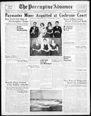 Porcupine Advance, 17 Apr 1939