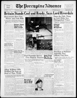 Porcupine Advance, 15 May 1939