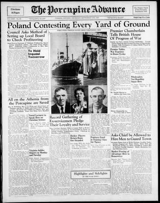 Porcupine Advance, 7 Sep 1939