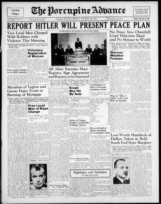 Porcupine Advance, 2 Oct 1939