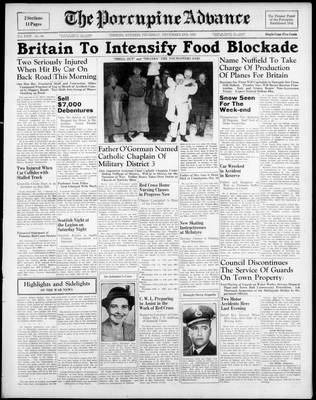 Porcupine Advance, 2 Nov 1939