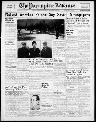 Porcupine Advance, 16 Nov 1939