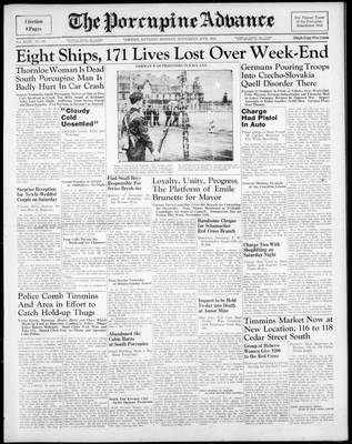 Porcupine Advance, 20 Nov 1939