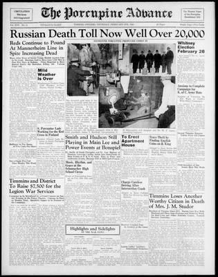 Porcupine Advance, 8 Feb 1940