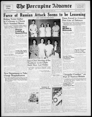 Porcupine Advance, 19 Feb 1940