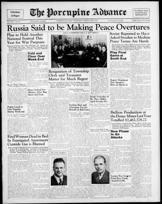 Porcupine Advance, 7 Mar 1940